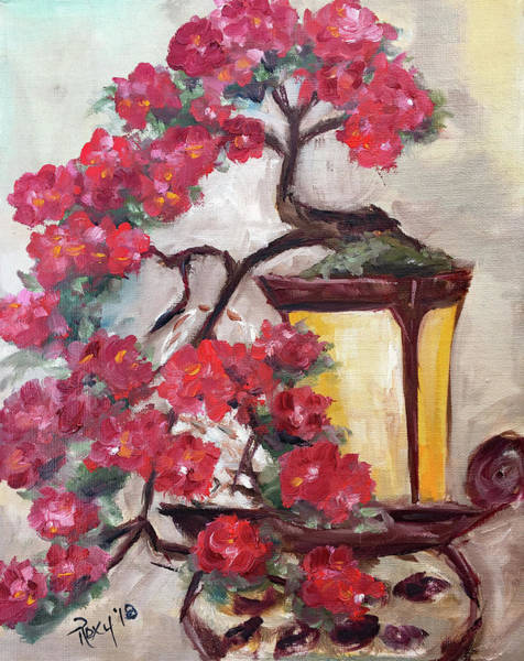 Flower Painting - Blooming Bonsai by Roxy Rich