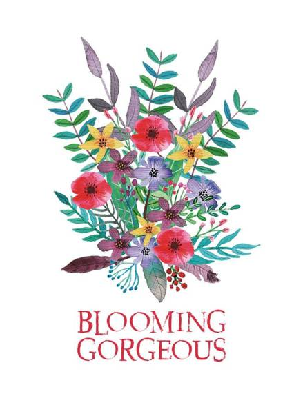 Bright Colours Mixed Media - Blooming Gorgeous by Amanda Lakey