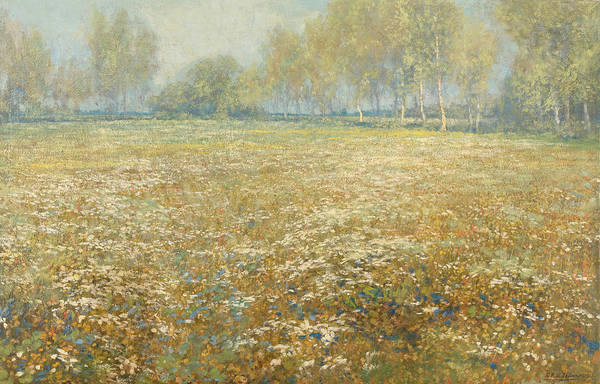 Painting - Blooming Meadow by Egbert Schaap
