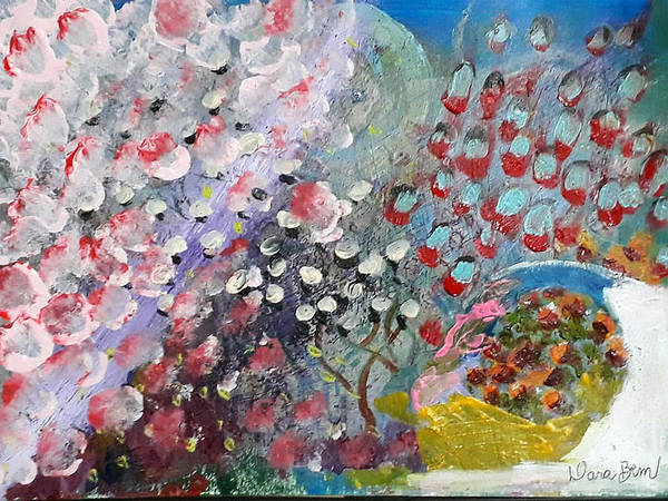Painting - Blossom by Darabem Artist