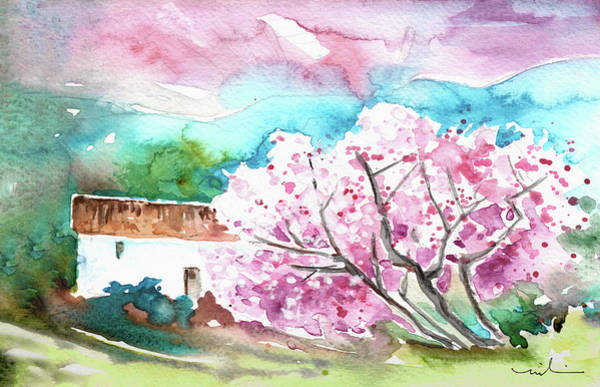 Wall Art - Painting - Blossoming Almond Tree On The Costa Blanca by Miki De Goodaboom