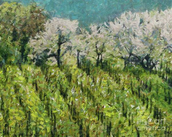 Wall Art - Painting - Blossoming Cherries by Dragica Micki Fortuna