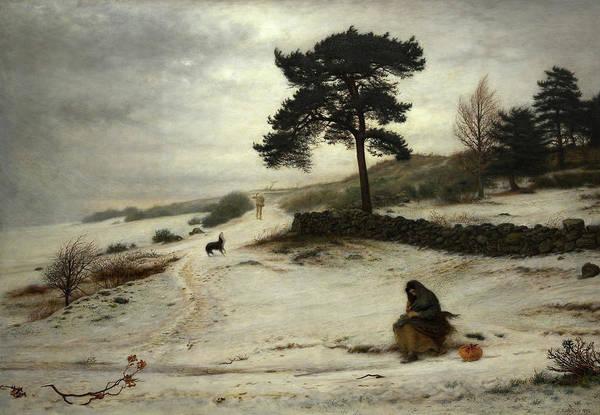 Millais Painting - Blow Blow Thou Winter Wind, 1892 by John Everett Millais