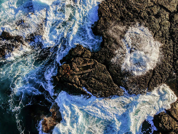 Photograph - Blow Hole Aerial by Christopher Johnson