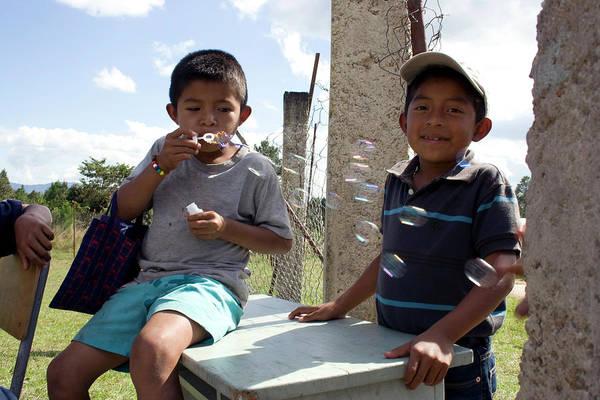 Photograph - Blowing Bubbles - Honduras by Rick Veldman