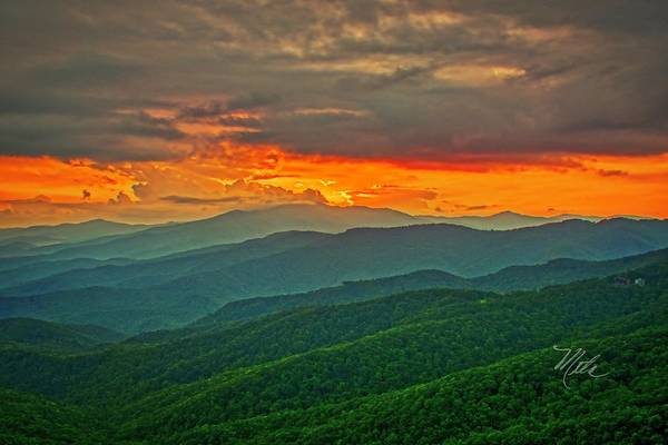 Photograph - Blowing Rock Sunset by Meta Gatschenberger
