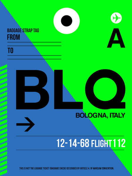 Wall Art - Digital Art - Blq Bologna Luggage Tag II by Naxart Studio