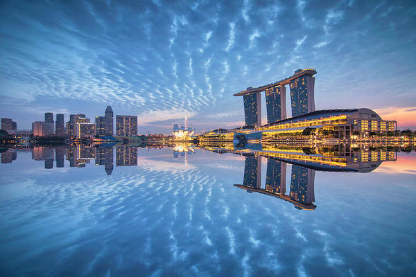 Photograph - Blu Duo by (c) Jonathan Chiang/scintt