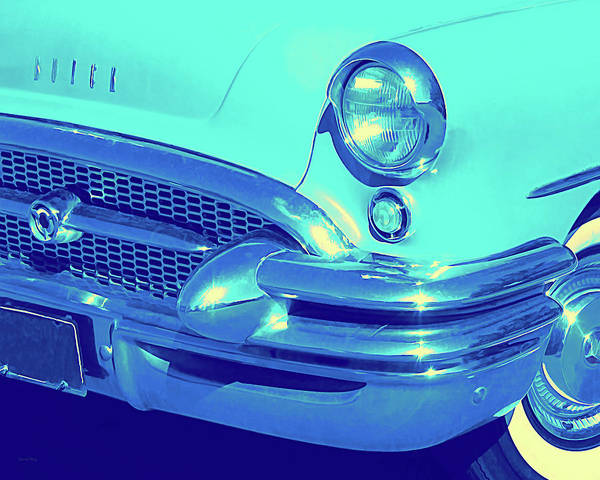 Photograph - Blue 1955 Buick Special by David King