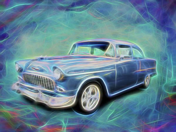 Digital Art - Blue 55 by Rick Wicker