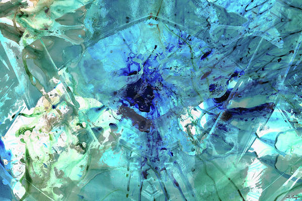 Painting - Blue Abstract Art - Heaven's Gate - Sharon Cummings by Sharon Cummings