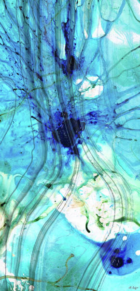 Painting - Blue Abstract Art - Just Ice - Sharon Cummings by Sharon Cummings