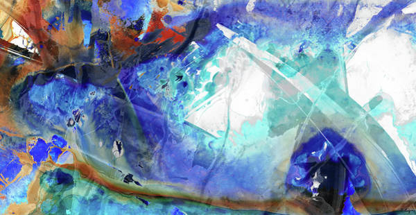 Painting - Blue Abstract Art - Storm Chaser - Sharon Cummings by Sharon Cummings