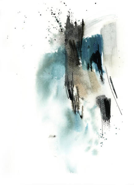 Wall Art - Painting - Blue Abstract II by Sophia Rodionov