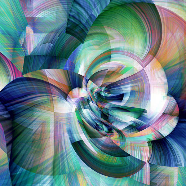 Wall Art - Digital Art - Blue Abstraction by Grace Iradian