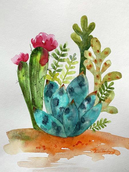 Painting - Blue Agave Cactus by Hilda Vandergriff