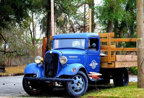 Photograph - Blue Aged Truck by Cynthia Guinn