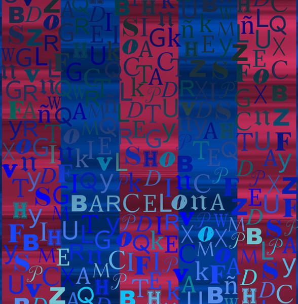 Digital Art - Blue And Purple Barcelona by Alberto RuiZ