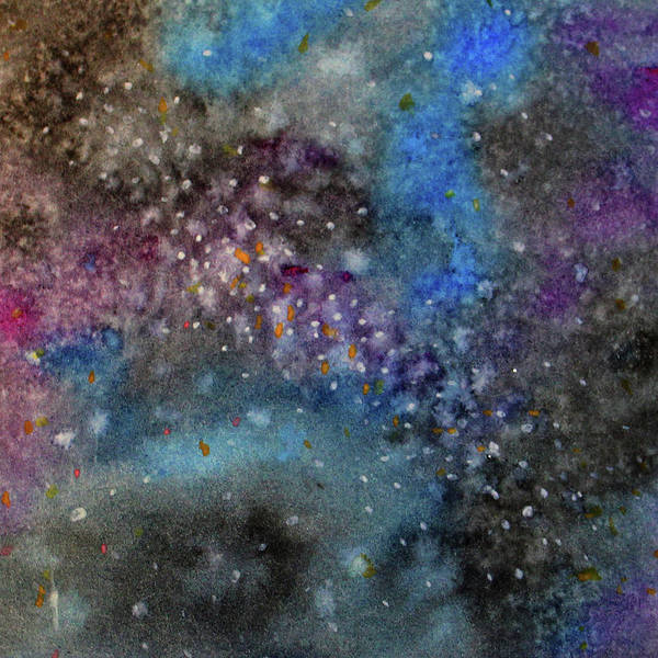 Wall Art - Painting - Blue And Purple Galaxy by Abbie Croker