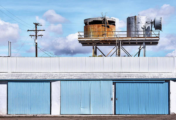 Photograph - Blue And Rust by Jon Exley