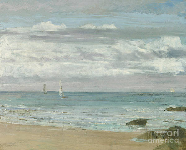 Wall Art - Painting - Blue And Silver Trouville, Circa 1865 by James Abbott McNeill Whistler