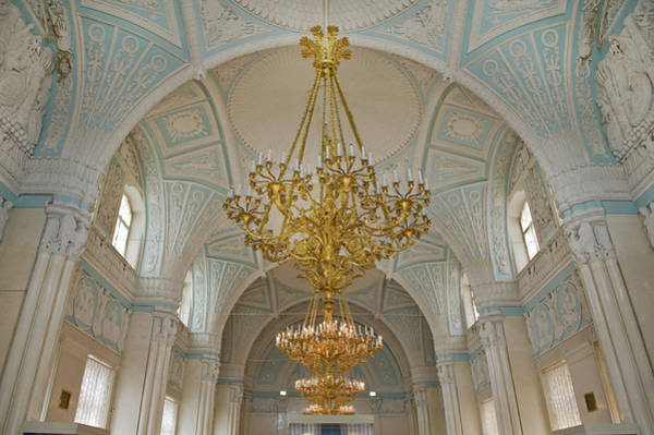 Hermitage Photograph - Blue And White Ceiling Room, The by Izzet Keribar