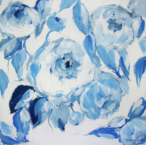 Wall Art - Painting - Blue And White Peonies by Melissa Lyons