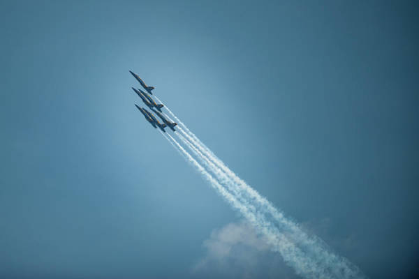 Photograph - Blue Angel Rockets by Mark Duehmig