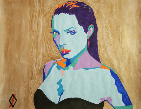 Wall Art - Painting - Blue Angelina by Stormm Bradshaw