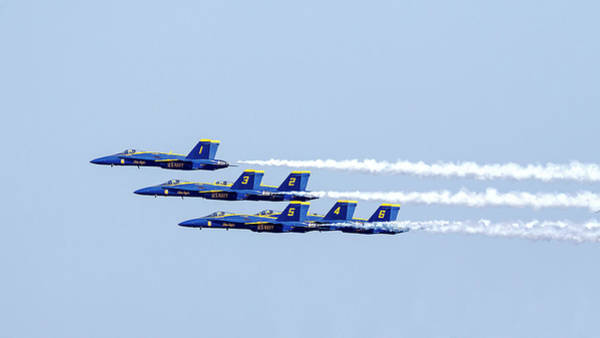 Photograph - Blue Angels 1 3 2 5 4 6 by Wes and Dotty Weber