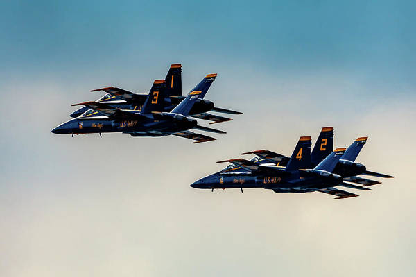 Photograph - Blue Angels 2 X 2 by Donna Corless