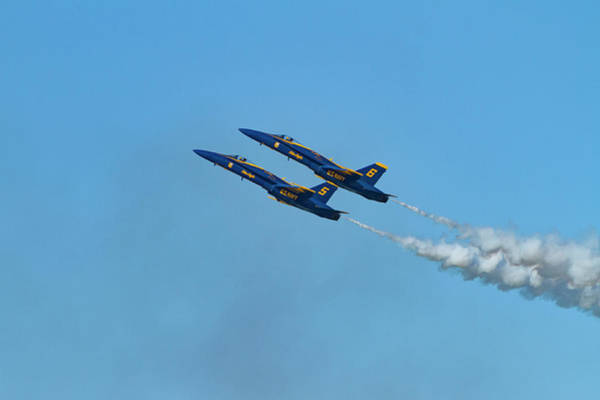 Photograph - Blue Angels 5 And 6 by Bonnie Follett