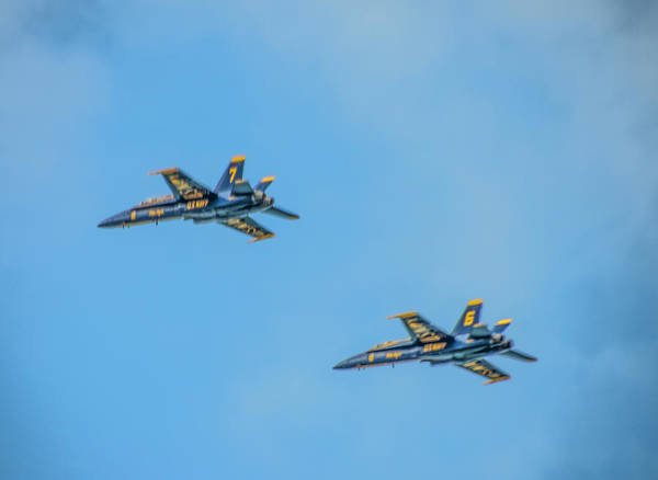 Photograph - Blue Angels 6 And 7 by Bill Cannon