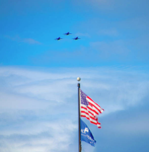 Photograph - Blue Angels - American Heroes by Bill Cannon
