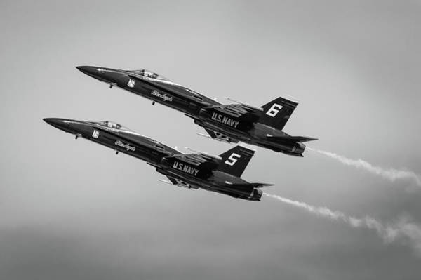 Photograph - Blue Angels Flyby #4 by Todd Henson