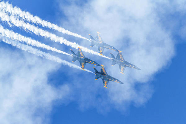 Photograph - Blue Angels In The Clouds by Bonnie Follett