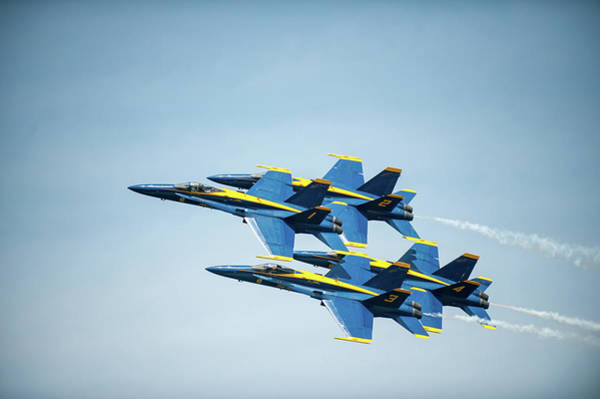 Photograph - Blue Angels Precision Flying by Mark Duehmig