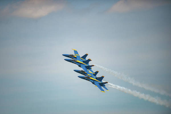 Photograph - Blue Angels Precision by Mark Duehmig