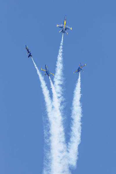Photograph - Blue Angels Sky High by Wes and Dotty Weber