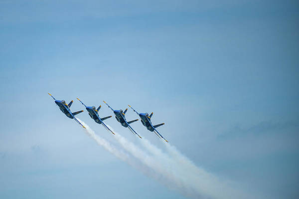 Photograph - Blue Angels Together by Mark Duehmig