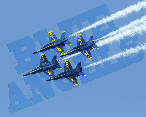 Photograph - Blue Angels by Wes and Dotty Weber