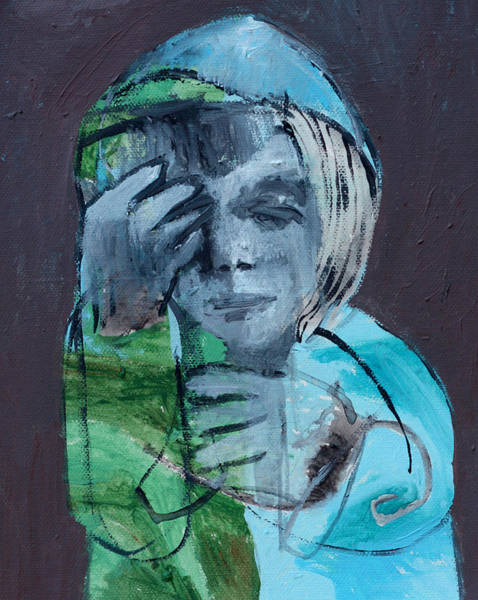 Painting - Blue Anorak by Artist Dot