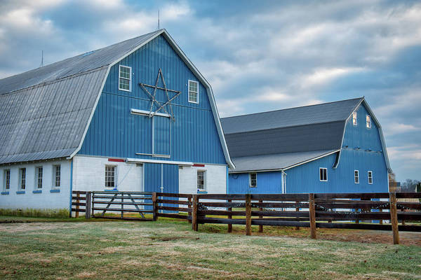 Photograph - Blue Barns by Mark Dodd