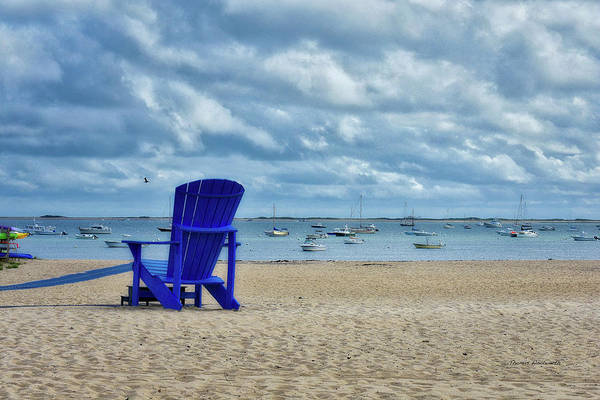 Wall Art - Photograph - Blue Beach Chair Provincetown Cape Cod Massachusetts 01 by Thomas Woolworth