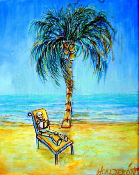 Wall Art - Painting - Blue Beach Dream by Heather Calderon