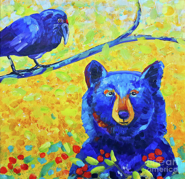 Wall Art - Painting - Blue Bear by Harriet Peck Taylor