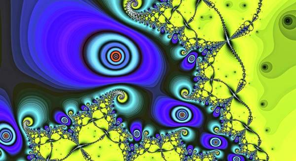 Digital Art - Blue Big Eye Top by Don Northup