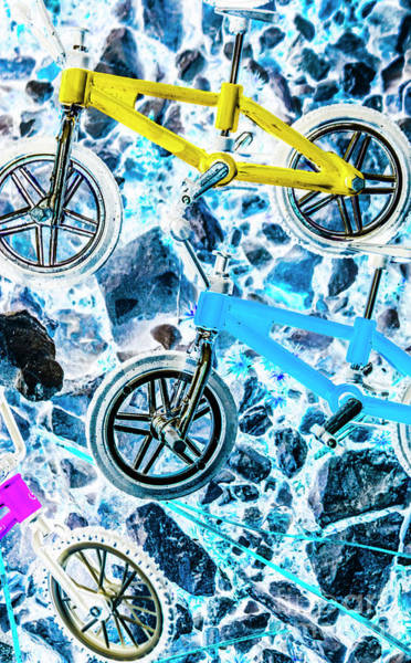Wall Art - Photograph - Blue Bike Background by Jorgo Photography - Wall Art Gallery