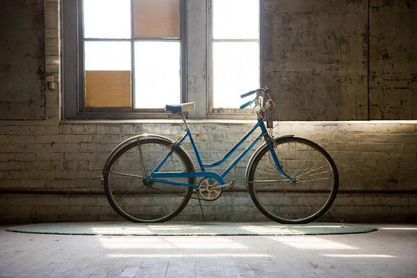 Pedal Wall Art - Photograph - Blue Bike by Bob Packert