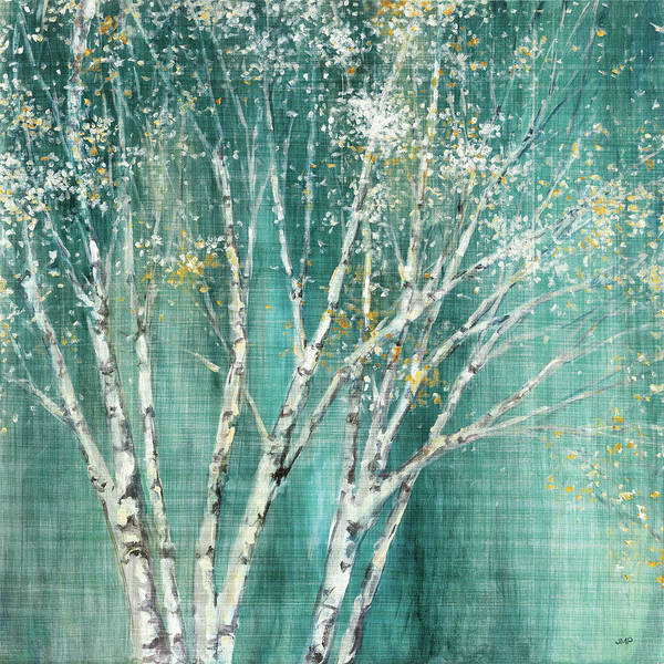 Wall Art - Painting - Blue Birch Flipped by Julia Purinton